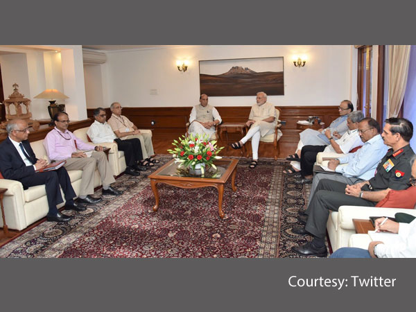 PM Narendra Modi chairs a high level meeting.