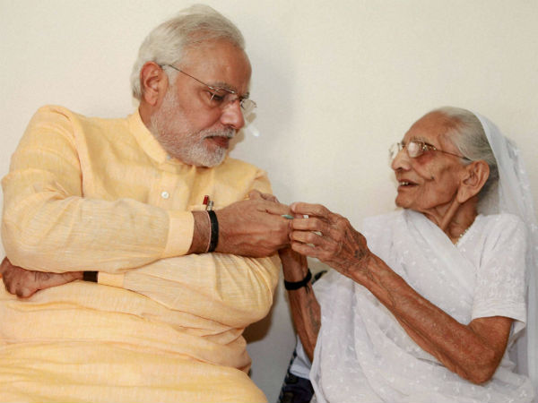 Modi meets mother on his birthday