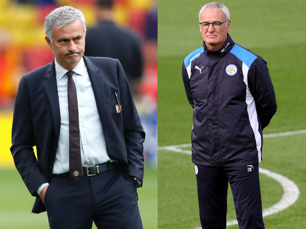 Jose Mourinho and Claudio Ranieri (Image courtesy: Premier League and Leicester City Twitter)