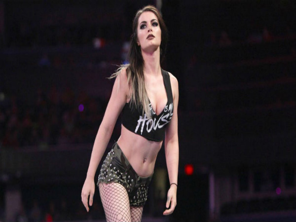 Paige in a live event (image courtesy: WWE Twitter handle)