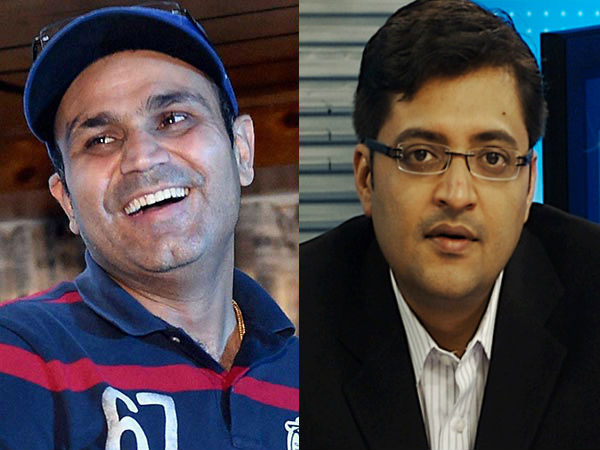 Arnab Goswami calls Virender Sehwag to speak about Piers Morgan on his show: This is what Viru said