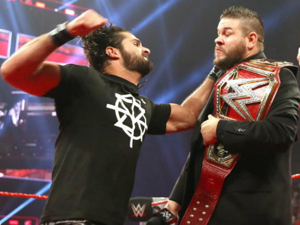 Rollins to capture the title from Owens? (image courtesy WWE)