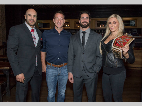 WWE Stars meet John Terry (2nd left) (image courtesy Instagram)