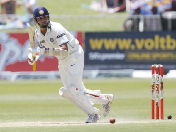 Laxman bats in a Test match