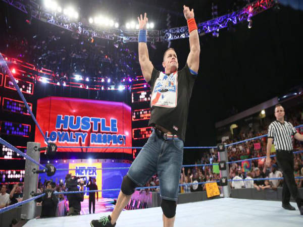 John Cena featured in Smackdown's main event (image courtesy wwe.com)