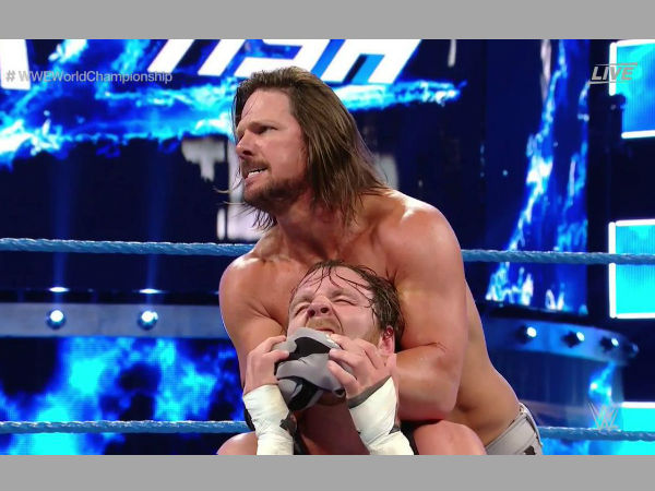 Styles-Ambrose feud to continue on Smackdown (image courtesy Twitter)