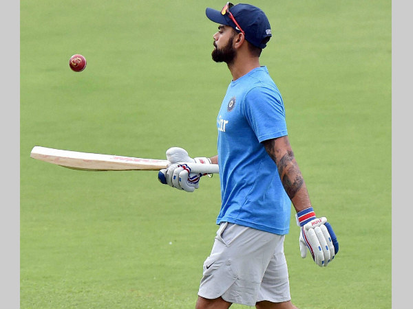 Virat Kohli practises at Eden Gardens ahead of the 2nd Test against New Zealand