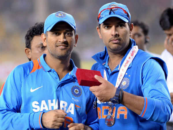 File photo: Dhoni and Yuvraj