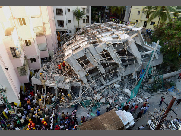Death toll of the building collapse rose to four