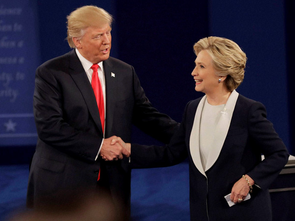 Trump, Clinton says nice things about each other