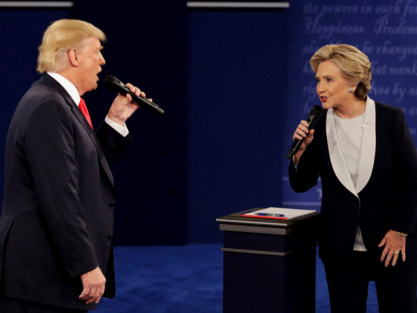 Hillary Clinton, Donald Trump take on each other
