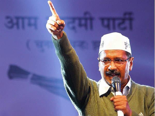 Kejriwal shown black flags in Bikaner