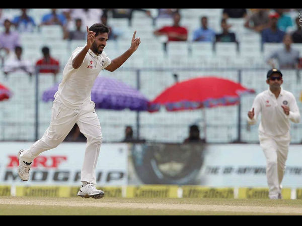 Kolkata Test: Bhuvneshwar's five-for rattles New Zealand on day 2