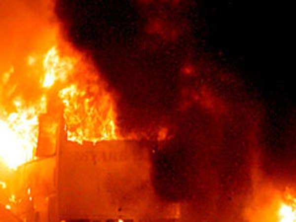 J&K: Cong condemns burning of school