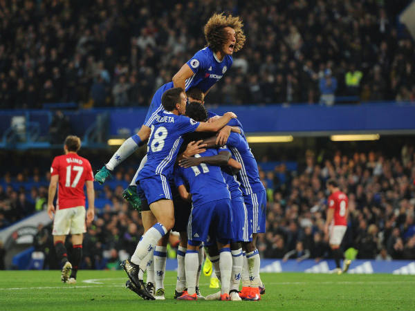 Chelsea players celebrate (Image courtesy: Chelsea FC Twitter handle)