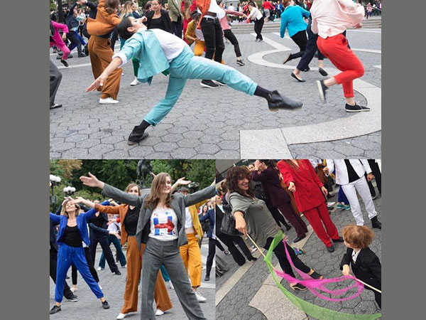 Flash mob homage: Dance like Hillary Clinton in pantsuits