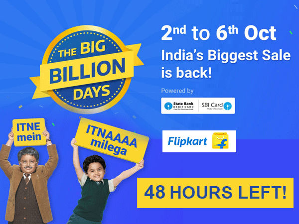 ONLY 48 HOURS LEFT! Flipkart Big Billion Day Sale, 80% Savings on Most Products