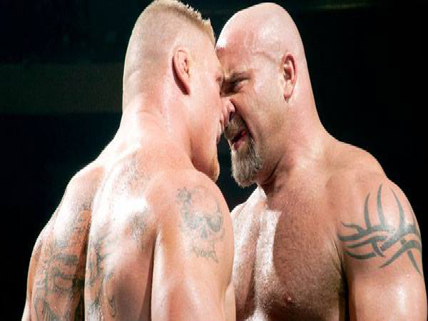 Brock Lesnar and Goldberg set to lock horns (Image courtesy: wwe)