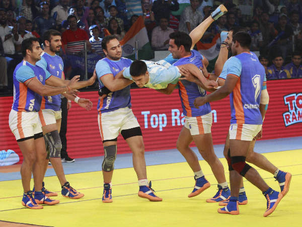 File photo: Indian players in action during the Kabaddi World Cup