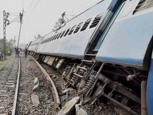 The coaches of the Jhelum Express, which derailed in Ludhiana