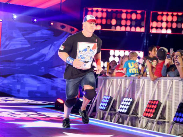 John Cena on WWE Smackdown (image courtesy WWE)