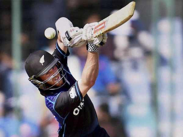 Kane Williamson plays a shot on way to his century