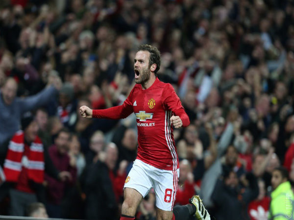 Juan Mata (Image courtesy: Manchester United Twitter handle)