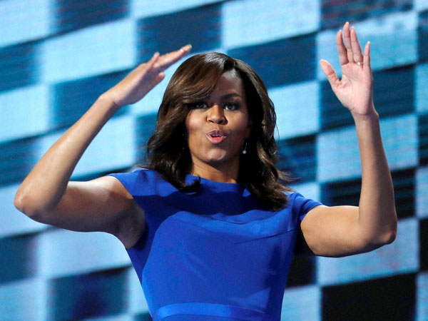 Michelle Obama hits out at Trump