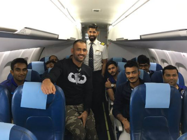 This picture from the inside of an aircraft carrying the Indian team was tweeted by BCCI