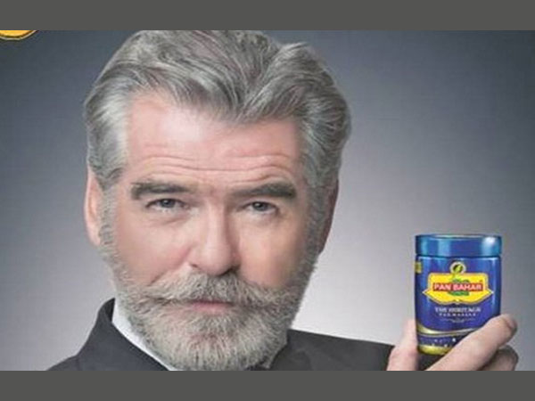 Pierce Brosnan 'shocked' by Pan Bahar ad