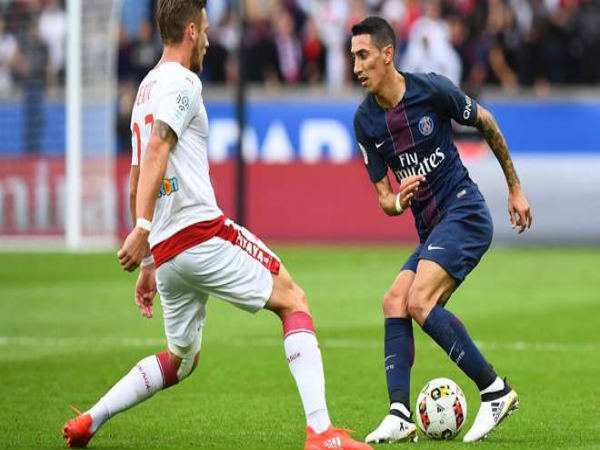 Angel Di Maria (right) in action for PSG (Image courtesy: PSG Twitter handle)