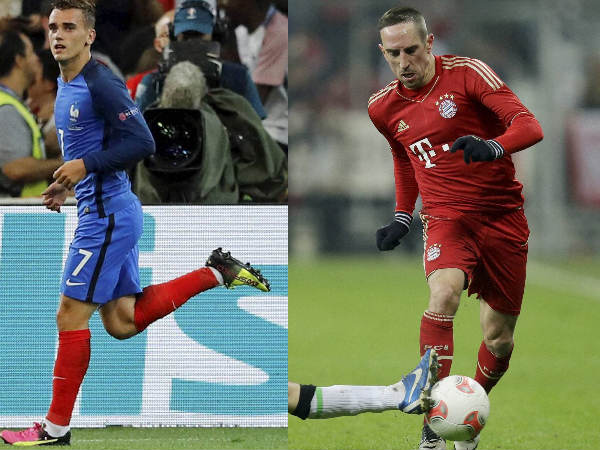 Antoine Griezmann and Franck Ribery