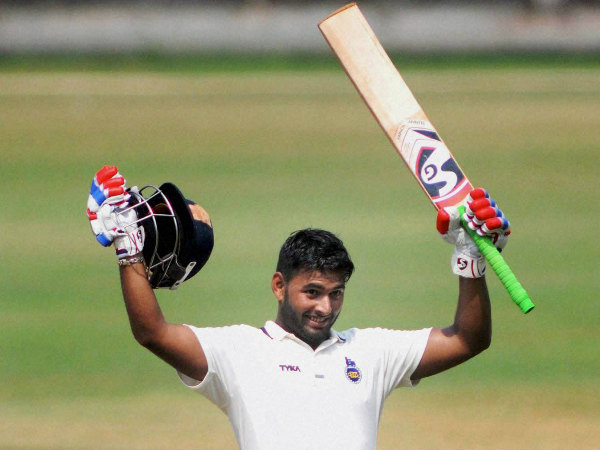Rishabh Pant celebrates his triple century in Ranji Trophy