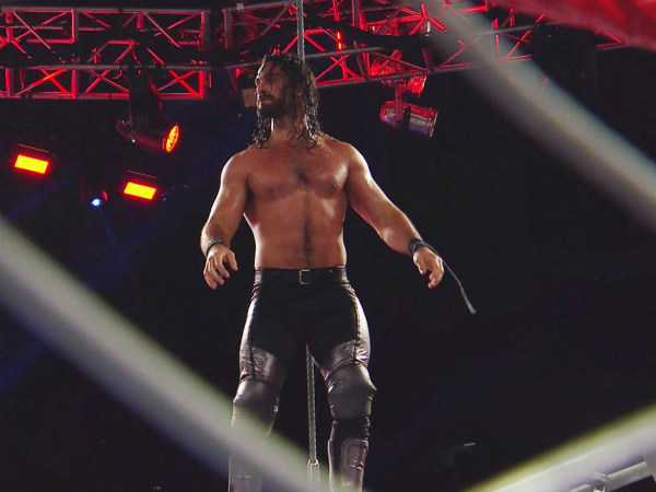 Seth Rollins on top of a steel cage on Raw (image courtesy WWE.com)