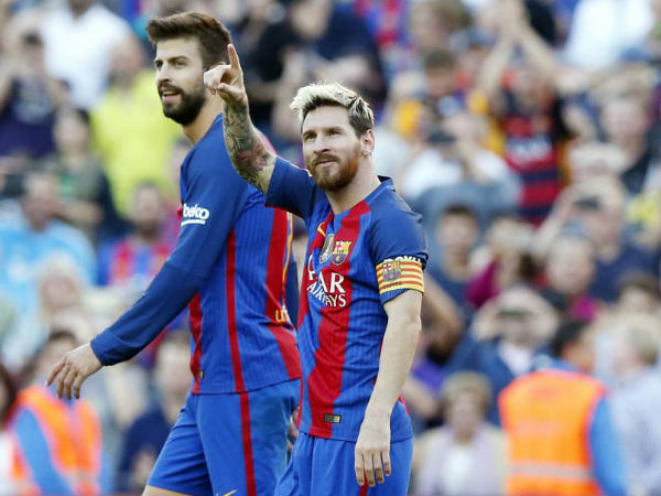 Lionel Messi and Gerard Pique (Image courtesy: FC Barcelona Twitter handle)