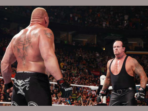 Brock Lesnar conquered the Undertaker's streak (image courtesy WWE)
