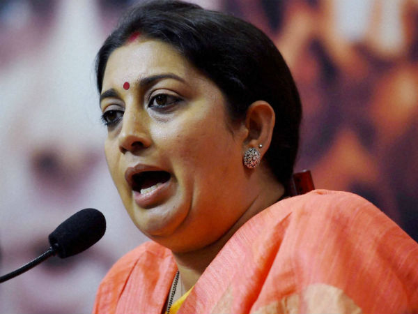 Chidambaram's statement reflects Congress mentality to divide India: Smriti Irani