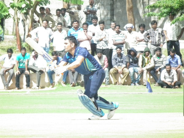 File photo: MS Dhoni plays a shot during Vijay Hazare Trophy in Bengaluru, December, 2015