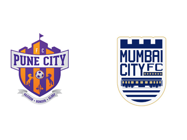 FC Pune City (left) and Mumbai City FC official logos (Image courtesy: FC Pune City and Mumbai City FC Twitter handle)
