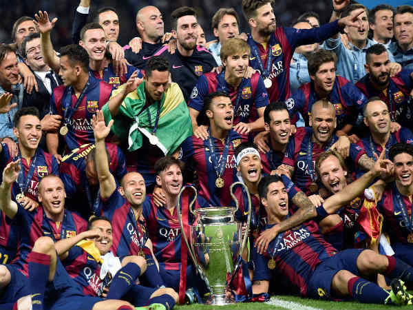 FC Barcelona 2014/15 Champions League winners