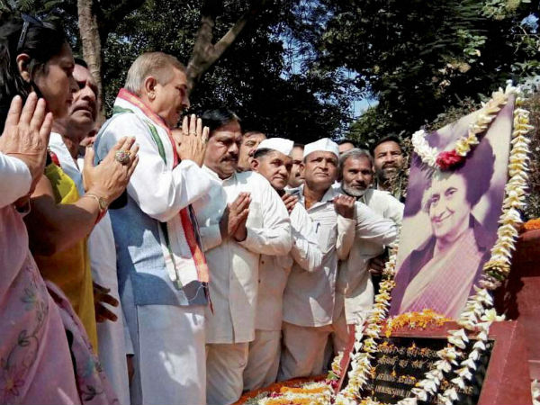 Floral tributes paid to Indira Gandhi on her 32nd death anniversary