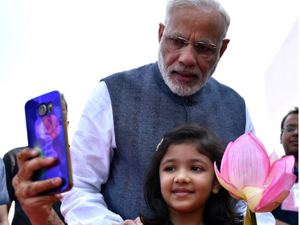 Selfie moment: PM Modi with Devanshi