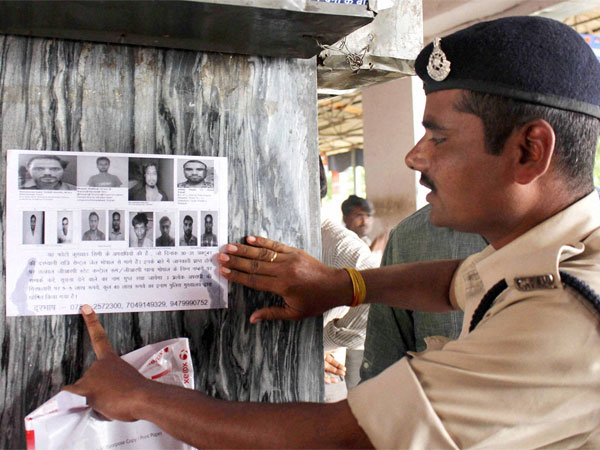 Wanted posters at Bhopal Railway Station