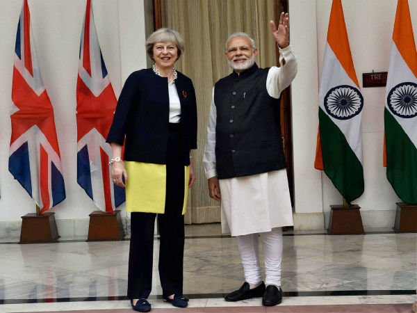 Image 5 In Pics: Theresa May's India visit