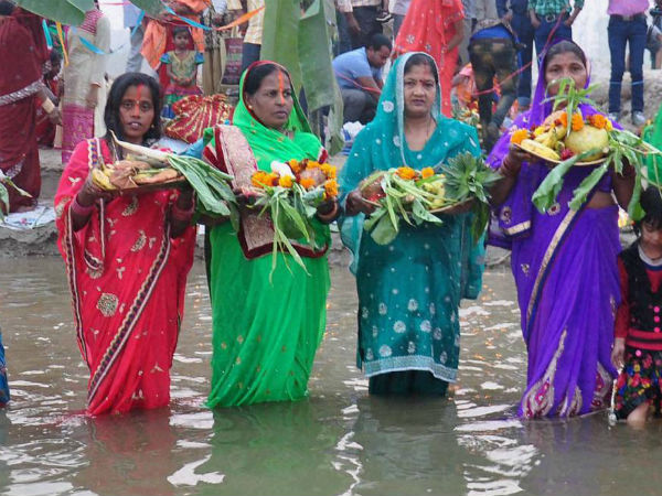 Devotees celebrate Chhath in Moradabad