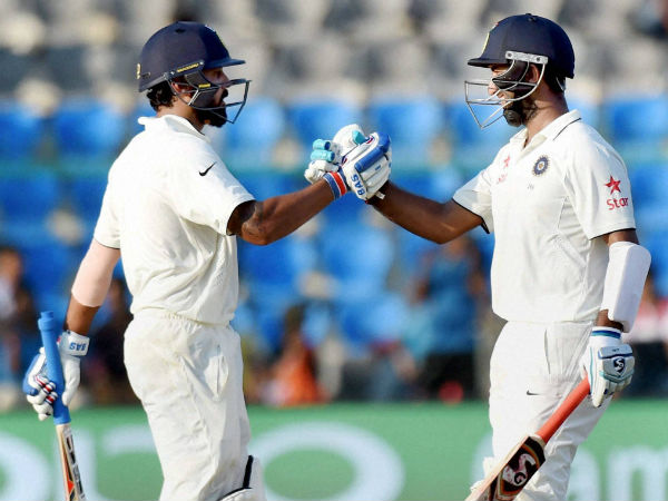 Vijay-Pujara create partnership record for India in Tests