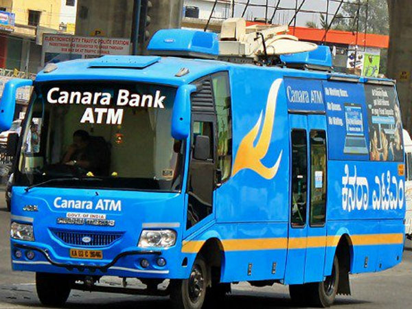 People flock to Canara bank mobile ATM in Bengaluru