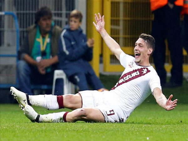 Andrea Belotti (Image courtesy: Torino Twitter handle)