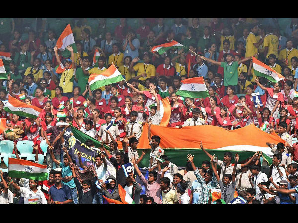 Fans support Indian team at Vizag