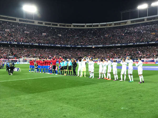 Real Madrid and Atletico Madrid players